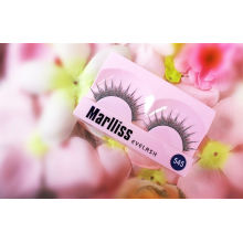 Reusable Long Human Hair Glitter False Eyelashes For Christmas Party